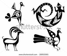 Fantastic animals and birds of Aztecs by Betacam-SP, via ShutterStock