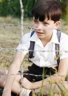 """Asa Butterfield in """"The Boy In The Striped Pyjamas"""""""