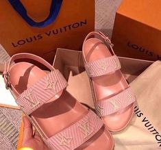 Designer Sandals for Sale in Charlotte, NC - OfferUp Pink Sandals, Cute Sandals, Cute Shoes, Shoes Sandals, Shoes Sneakers, Jelly Sandals, Slide Sandals, Dr Shoes, Me Too Shoes