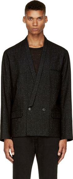 April77: Black Wool Tiller Blazer | SSENSE