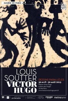 Louis Soutter - Victor Hugo : Dessins parallèles à la Maison de Victor Hugo. Affiche