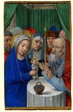 The Presentation in the Temple - Simon Bening (Bruges, 1483/1484-1561)  Artist: Miniature  Year: c. 1520-1530