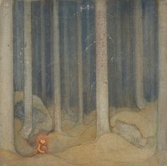 John Bauer - Humpe i trollskogen (Humpe in the woods), 1913