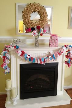 Colorful Fabric Garland Bunting Handmade Party by QuiltedCupcake, $28.00