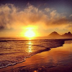 Another beautiful sunset at Ocean Beach, San Francisco.