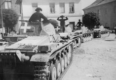 Column of tanks Pz.II in Poland, 1939 - pin by Paolo Marzioli Mg 34, Armored Fighting Vehicle, Ww2 Tanks, Armored Vehicles, War Machine, North Africa, World War Ii, Tanks