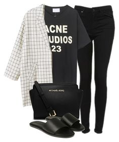 """Untitled #1972"" by oliviaswardrobe ❤ liked on Polyvore featuring Topshop, Monki, MICHAEL Michael Kors and Common Projects"