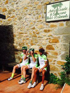 il trio.... Ciclisti Maremmani con il Completino '' Antico Casale''