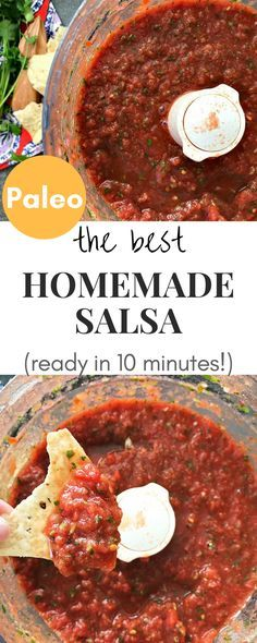 This is the best and easiest homemade salsa! It takes about 10 minutes to make and it is the only salsa recipe you will ever need!