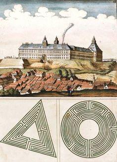 Pl. 18. Sedis ducalis Gothanæ facies. Architectura Curiosa Nova. Georg Andreas Boeckler, Georg Andreas Böckler.
