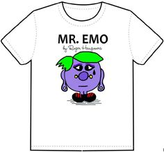 Mr Emo Men T Shirt Transfer A5 Stag Wedding Adult Funny Rude Fancy Dress Costume in Clothes, Shoes & Accessories, Women's Clothing, T-Shirts | eBay!