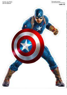 Centro de Mesa Vingadores Capitão América 1 2-2