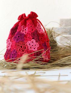 Bag Pouch Сrochet Scarlet Flower Summer Bag