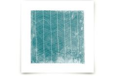 Abstract Herringbone by Paper Dahlia | Turquoise herringbone print | abstract artwork