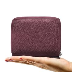 Privé RFID Blocking Women's Wallet - Luxury Geniune Leather Wallet - Identity Theft Protection and Credit Card Protector - Keep Credit Card Information Safe and Secure - Plum