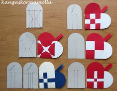 Punottu sydän kaava Danish Christmas, Scandinavian Christmas, Christmas Crafts For Kids, Simple Christmas, Christmas Holidays, Felt Ornaments, Christmas Ornaments, Paper Weaving, Paper Hearts