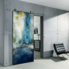 These cutting edge doors will energize any public or private contemporary setting. Sargam Griffin contemporary ArtDoors are created through an innovative technique which translates her original oil paintings onto the ArtDoor, initially an industrial door panel. Innovative, honest, unobtrusive, an