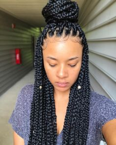 "2,587 Likes, 49 Comments - Jenise  (@xoxojenise) on Instagram: ""8 1/2 hours later.. Decided to do my own box braids for the first time. """