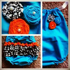 Ruffle Butt Baby Romper Bright colorful fun by TwistBOWtique, $25.00