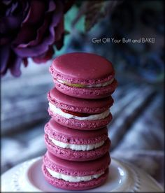 "How to make Macarons Tutorial -both the Italian method and French method are given. The secret is ""aging"" the egg whites to grow ""feet."" Seriously!"