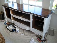 refinishing   Love the stain color,Kona