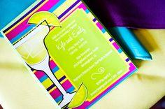 Custom Colorful Fiesta, Cinco de Mayo, Margarita or Stock the Bar Shower Invitation. $1.65, via Etsy.