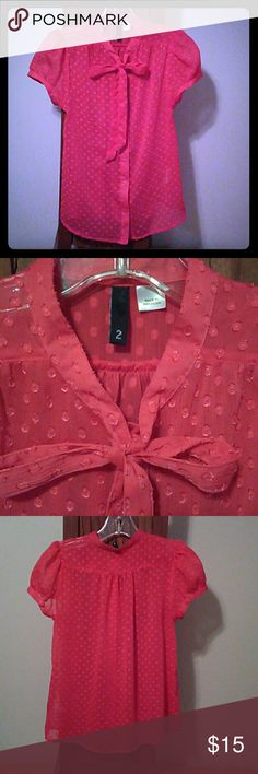 Sm Blouse Divided by H&M So cute !100% polyester sheer & cool for summer. Comes with extra button. Divided Tops Blouses