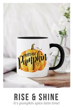 Pumpkin Spice and Chill Two Tasty Coffee Cups Design Mens Womens Unisex Sweatshirt