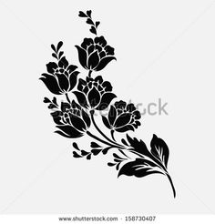 Outline Flower Stock Photos, Images, & Pictures | Shutterstock
