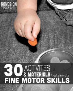 Promoting fine motor skills in young children -- materials and activities to use