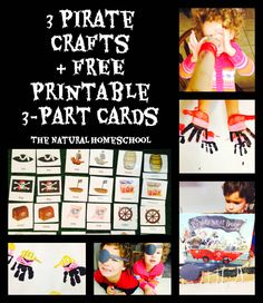 Here is the second part of The Natural Homeschool's super fun FREE Pirate Unit! We made 3 easy crafts, we read books and we played with our printable 3-part