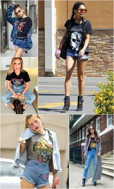 A tshirt rocker a é capaz de criar looks descolados e cheios de personalidade Roube do namorado, garimpe na sessão masculina das lojas e se joga na trend.