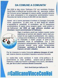 Daniele Saisi Blog: Da Comune a Comunità - David Saisi per Gallicano C...