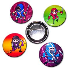 Ninja Button Set now available from www.karatemart.com/