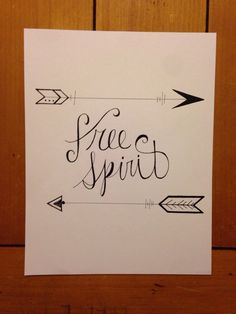 Free Spirit Calligraphy by LanternLightDesigns on Etsy https://www.etsy.com/listing/214774995/free-spirit-calligraphy