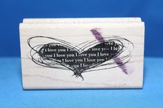 Heart I Love You Newsprint Made USA Inkadinkado Wood & Foam Backed Rubber Stamp           http://autopartspuller.com/ Great Sale 50% off entire store!! Copper, Glassware, Wood Crafts, Scrap Booking   Also Find us on:  http://hometownvintage.com http://autopartspuller.com @HomeTownVintage @autopartspuller @preppershowto http://facebook.com/hometownvtg http://facebook.com/AutoPartsPuller