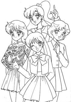 coloring page Sailor Moon - Sailor Moon
