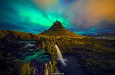 #Kirkjufell #Aurora #Iceland © Byron Prukston — in Iceland.