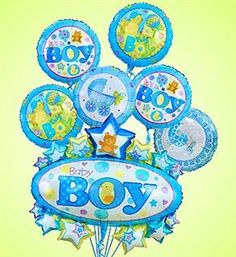 baby boy balloon bouquet_large
