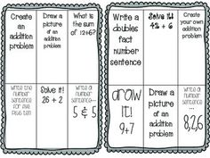 FREE Addition-Choice-Boards-Set-1-1151043 Teaching Resources - TeachersPayTeachers.com