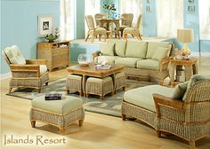 Rattan And Wicker Living Room Furniture Sets | Living Room Chairs And Tables