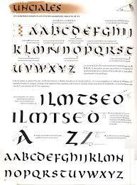 Resultado de imagen de caligrafia uncial