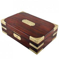 Georgian Brass Bound Mahogany Box