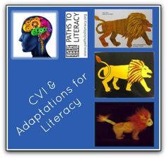 CVI literacy adaptations collage
