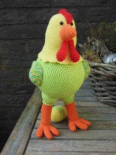 Gehaakte kip <3 patroon Stip en haak <3 pasen <3 crochet chicken <3 easter