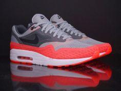 Nike Air Max 1 BR Silver Black Dark Grey Team Orange New Breathe 644140 001 | eBay