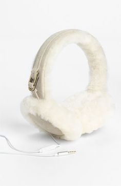 UGG® Australia Leather & Shearling Tech Earmuffs | Nordstrom