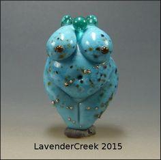Lampwork Goddess Bead Turquoise Venus By by LavenderCreek
