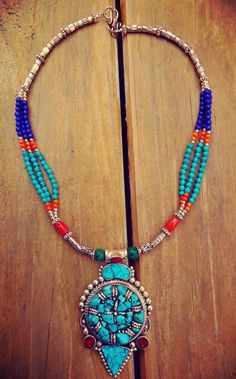 Hey, I found this really awesome Etsy listing at https://www.etsy.com/listing/212939886/nepalese-statement-necklace-turquoise