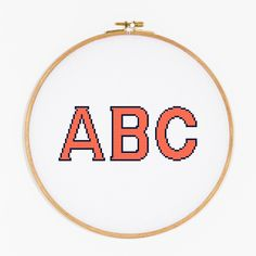 This cheerful, bold capital alphabet uses cross stitches & back stitch to create vivid stitched verbiage, monograms or initials.